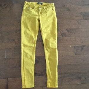 Size 26 mustard Gold Maison Scotch denim jeans